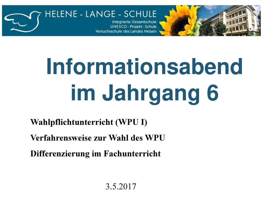 Informationsabend im Jahrgang 6