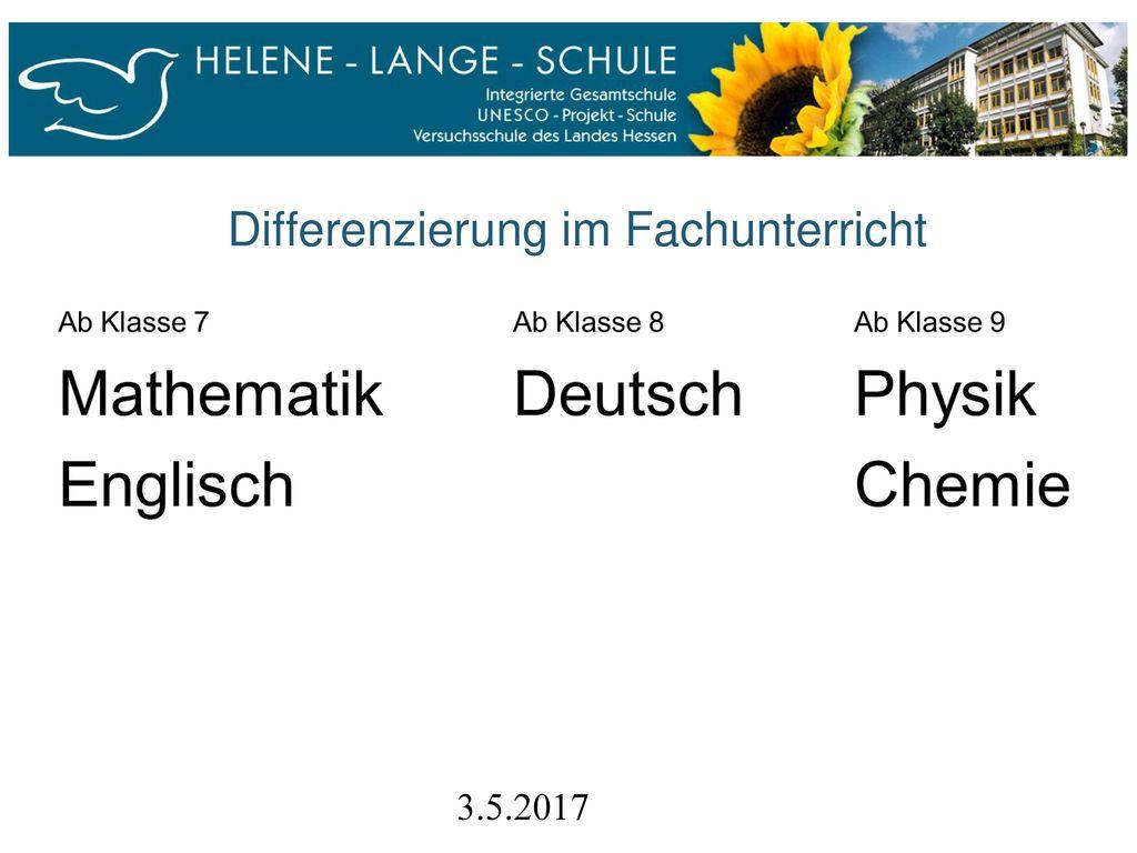 Differenzierung im Fachunterricht