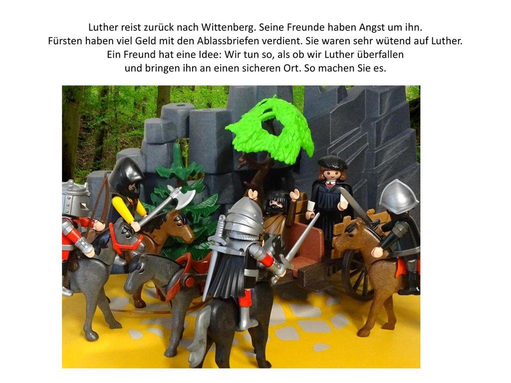 Luther reist zurück nach Wittenberg. Seine Freunde haben Angst um ihn