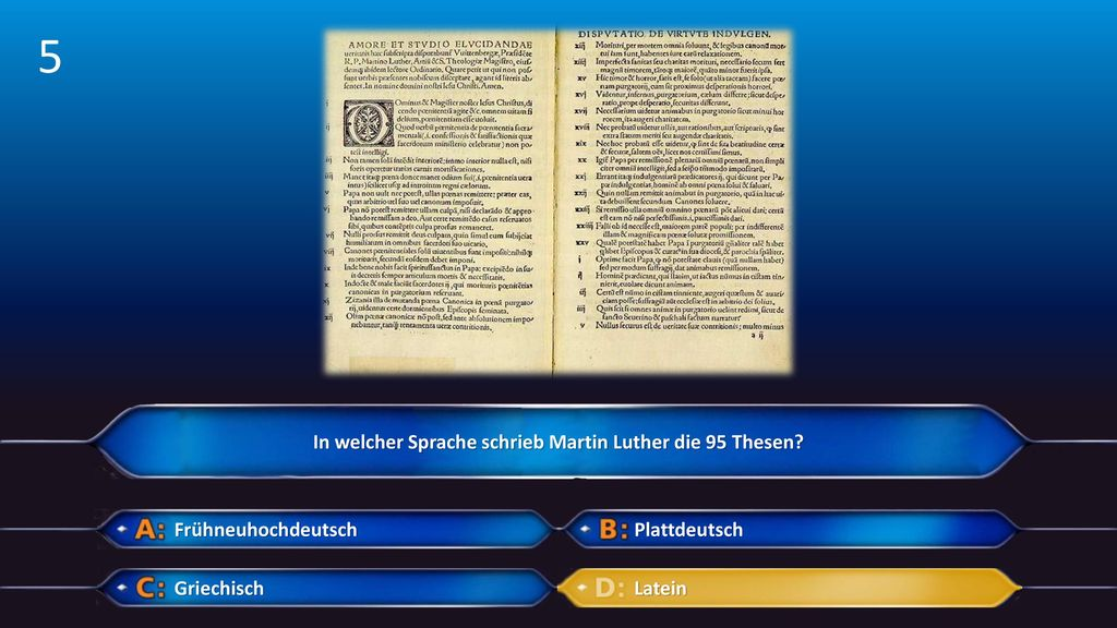 In welcher Sprache schrieb Martin Luther die 95 Thesen