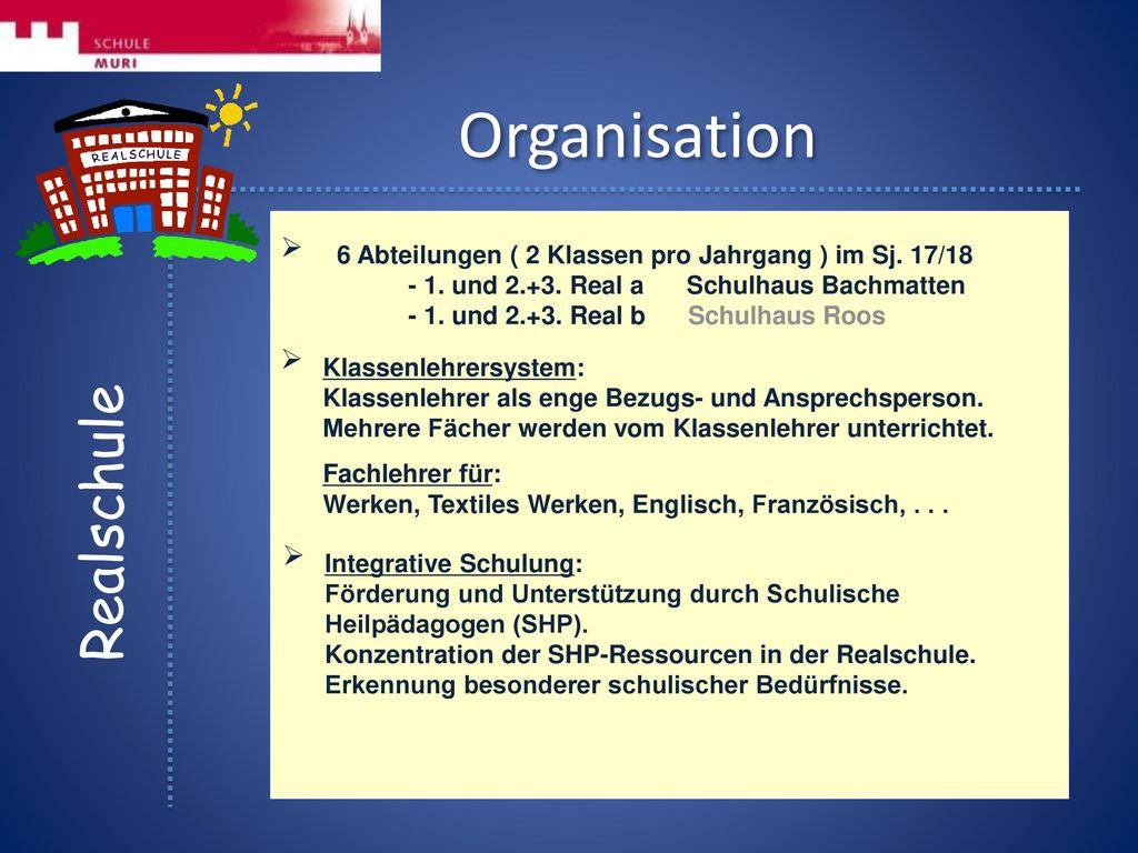 Organisation Realschule   