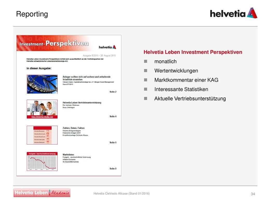 Reporting Helvetia Leben Investment Perspektiven monatlich