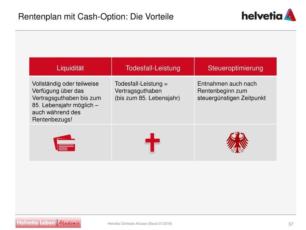Rentenplan mit Cash-Option: Die Vorteile