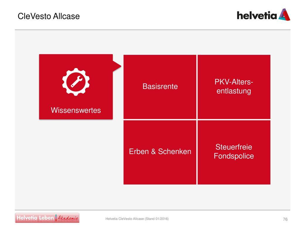 CleVesto Allcase PKV-Alters- entlastung Basisrente