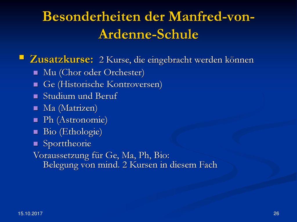 Besonderheiten der Manfred-von-Ardenne-Schule