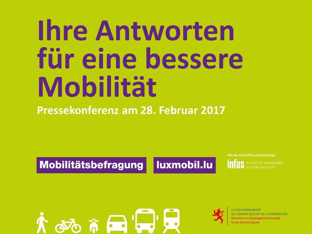 Ihre Antworten für eine bessere Mobilität