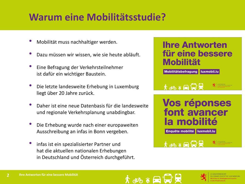 Warum eine Mobilitätsstudie