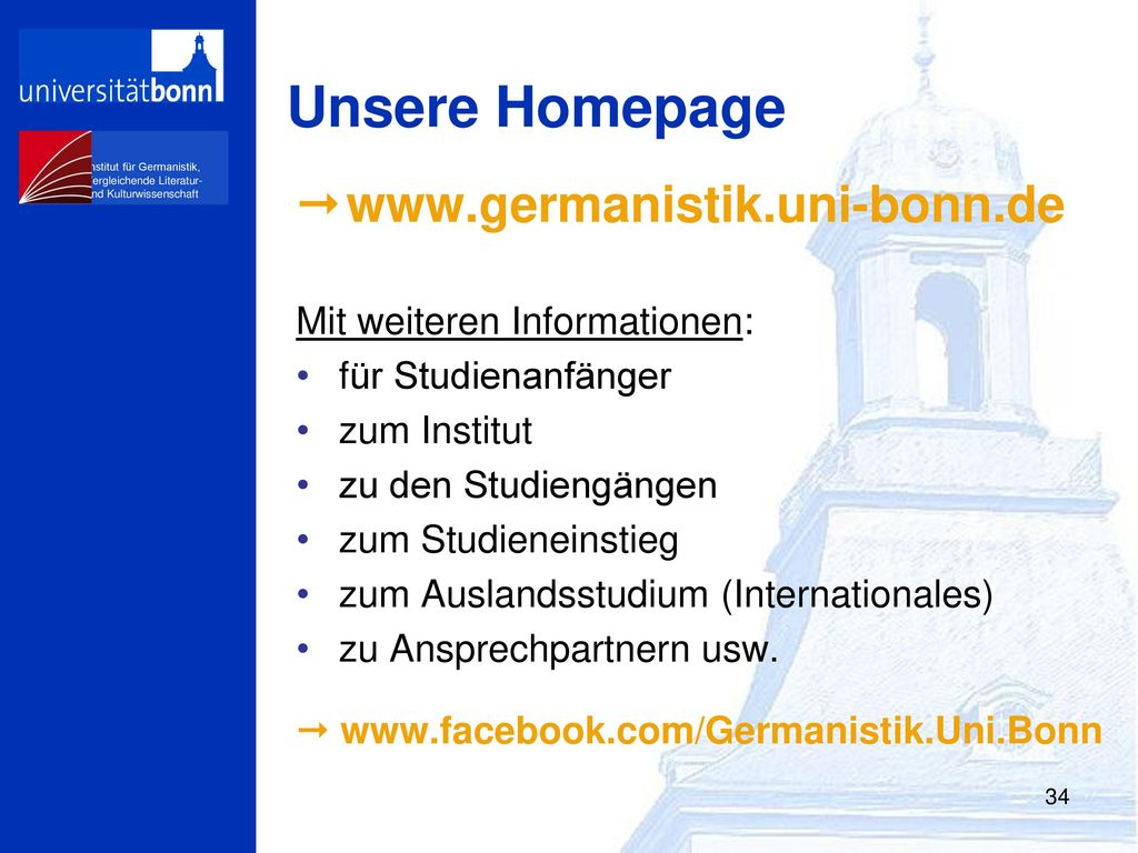 Unsere Homepage 