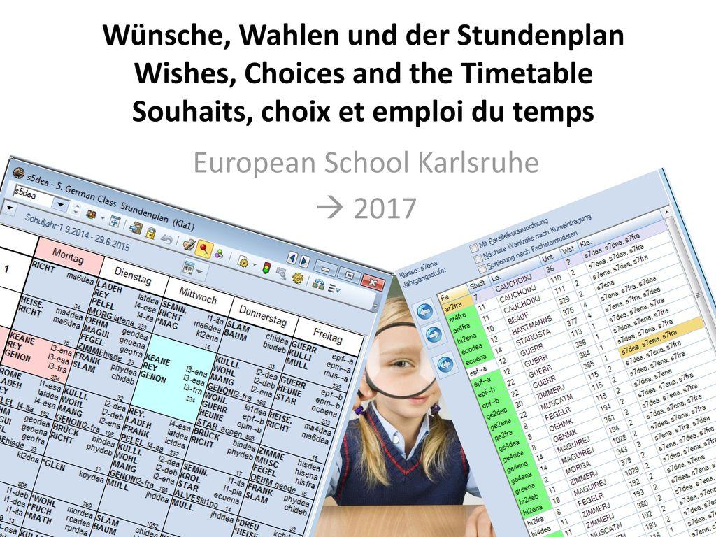 European School Karlsruhe  2017