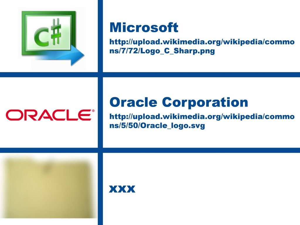 Microsoft Oracle Corporation xxx