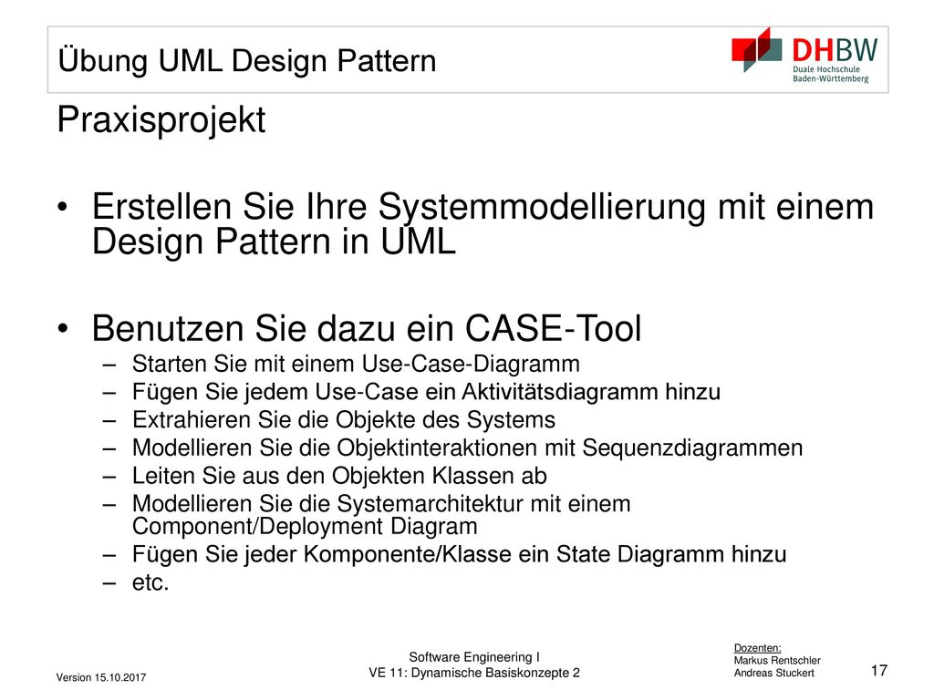 Übung UML Design Pattern