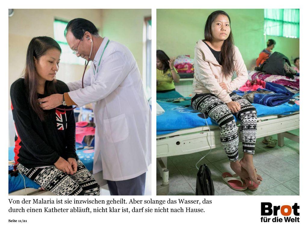 Von der Malaria ist sie inzwischen geheilt