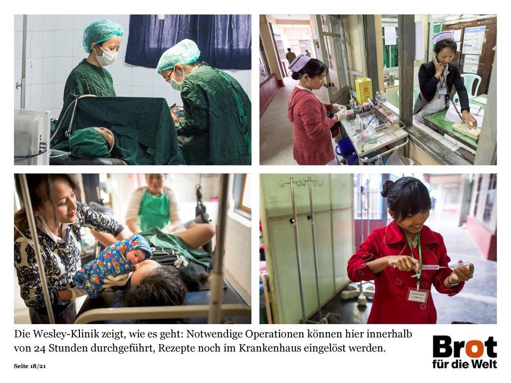 Die Wesley-Klinik zeigt, wie es geht: Notwendige Operationen können hier innerhalb von 24 Stunden durchgeführt, Rezepte noch im Krankenhaus eingelöst werden.