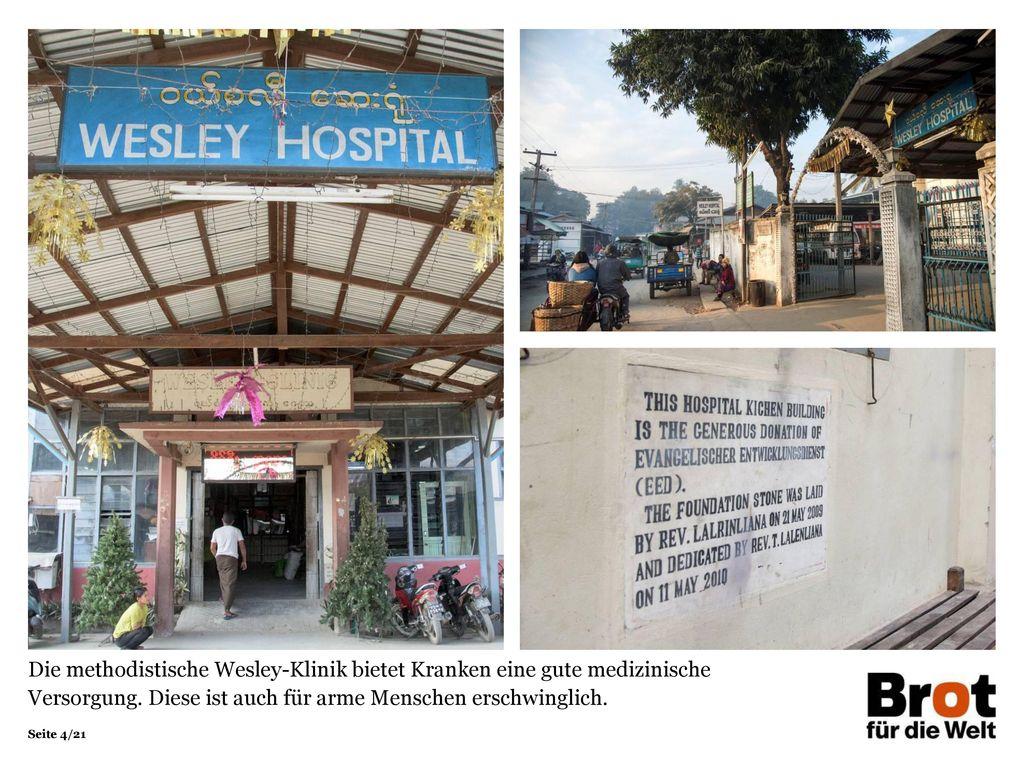 Die methodistische Wesley-Klinik bietet Kranken eine gute medizinische Versorgung.