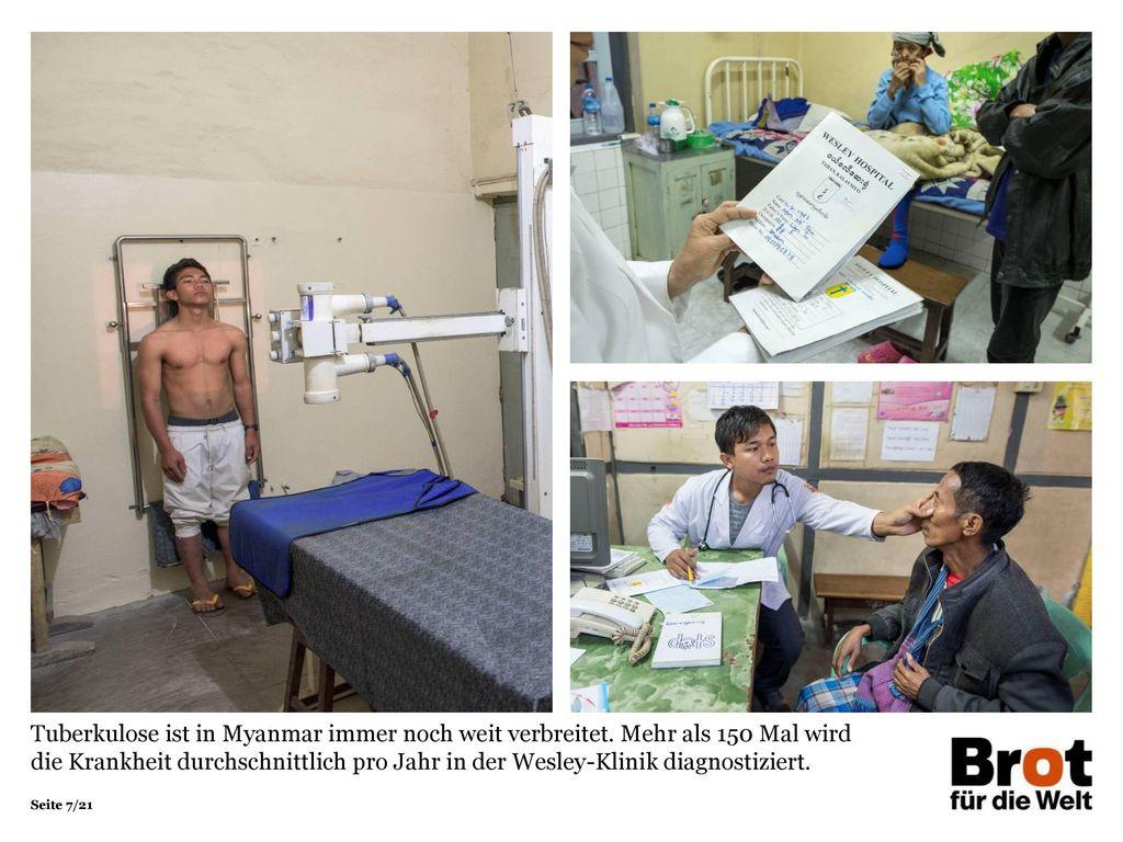 Tuberkulose ist in Myanmar immer noch weit verbreitet