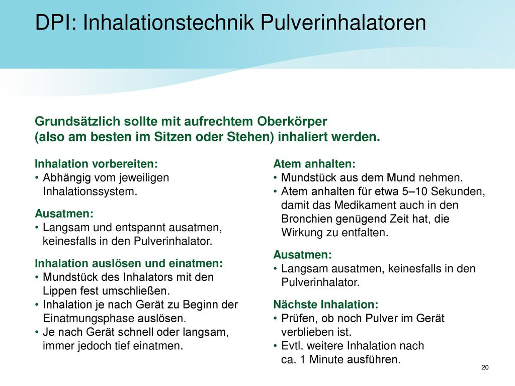 DPI: Inhalationstechnik Pulverinhalatoren