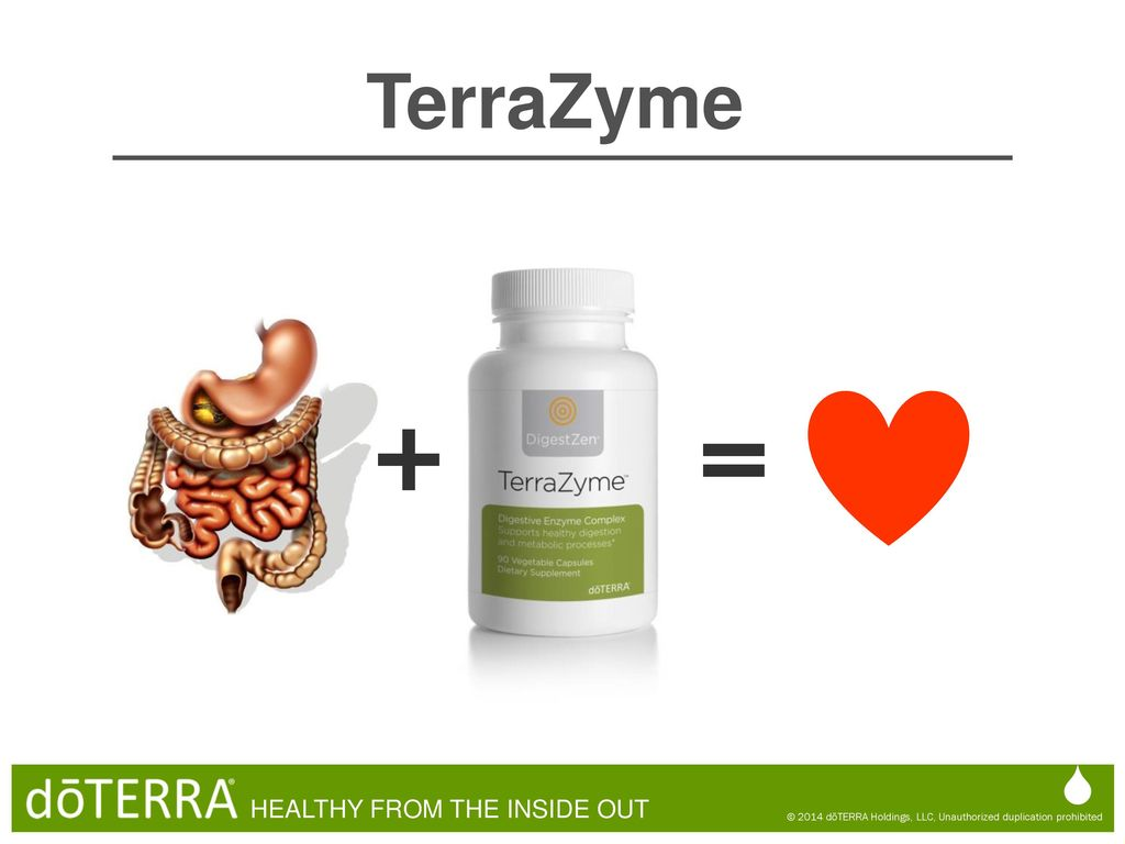 + = TerraZyme  HEALTHY FROM THE INSIDE OUT