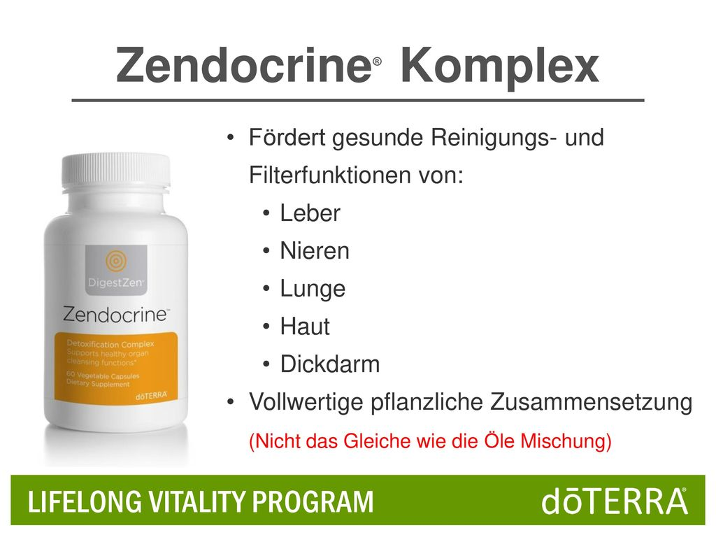 Zendocrine® Komplex LIFELONG VITALITY PROGRAM