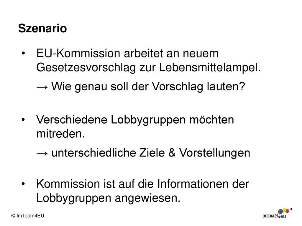 Szenario EU-Kommission arbeitet an neuem Gesetzesvorschlag zur Lebensmittelampel. → Wie genau soll der Vorschlag lauten