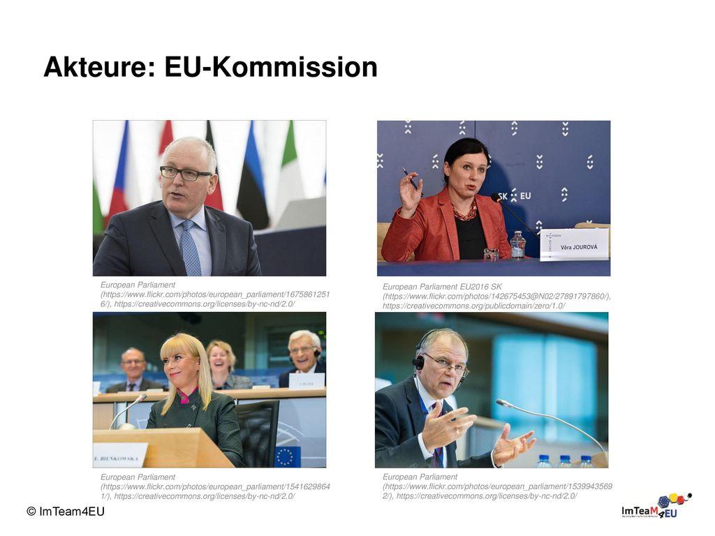 Akteure: EU-Kommission