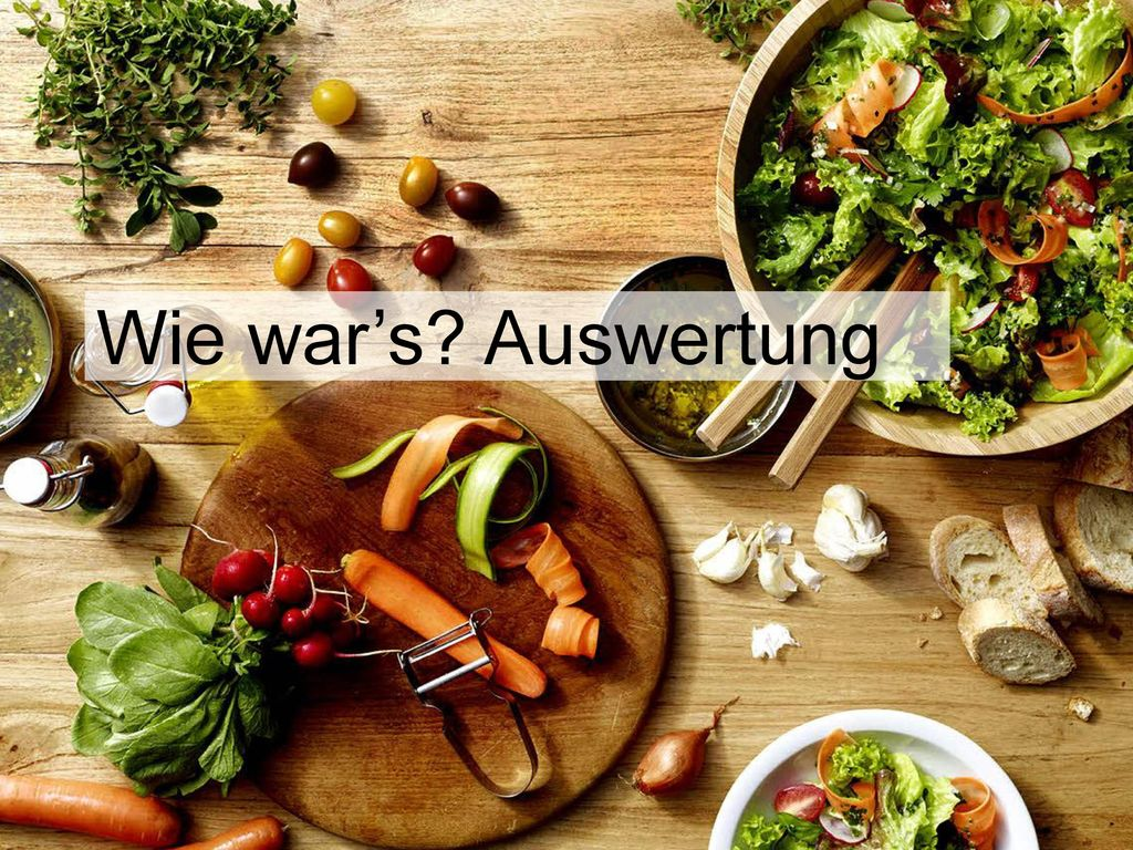Wie war's Auswertung