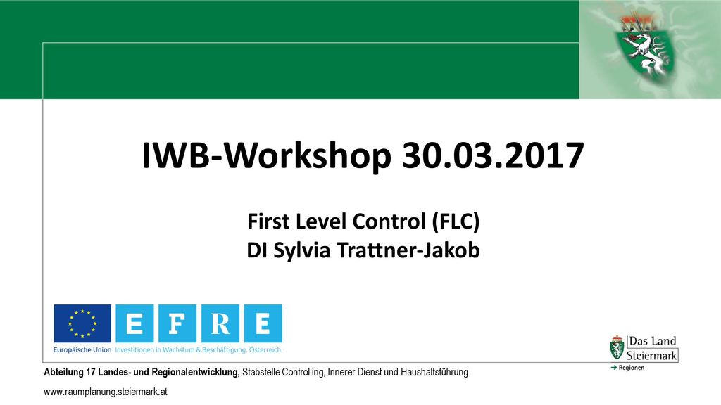 First Level Control (FLC) DI Sylvia Trattner-Jakob