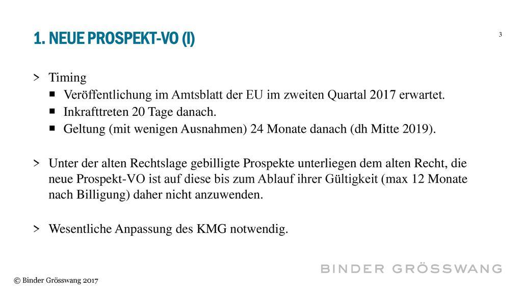 1. Neue Prospekt-vo (I) Timing