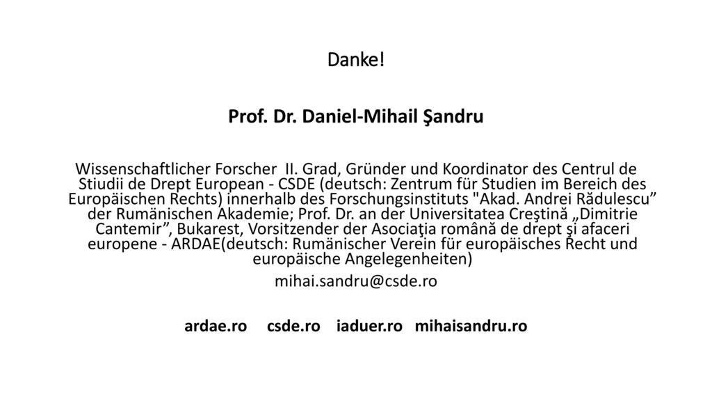 Prof. Dr. Daniel-Mihail Şandru