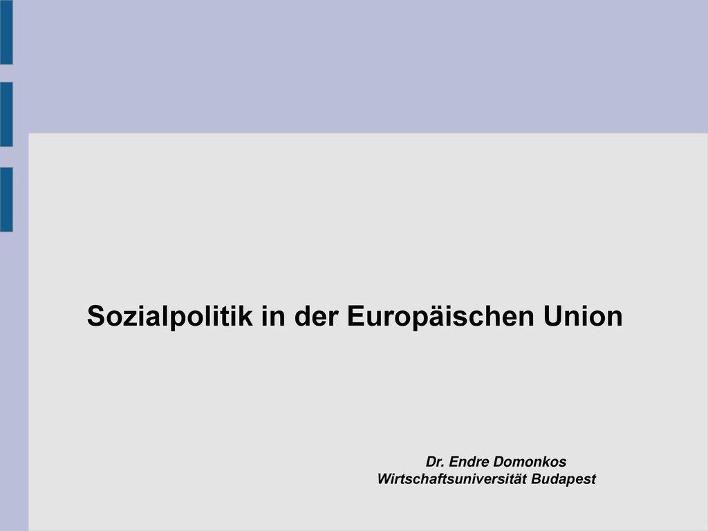Sozialpolitik in der Europäischen Union