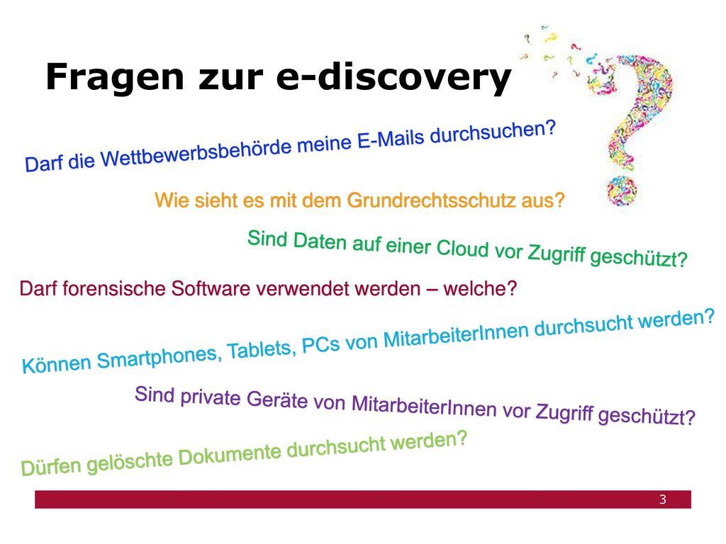 Fragen zur e-discovery