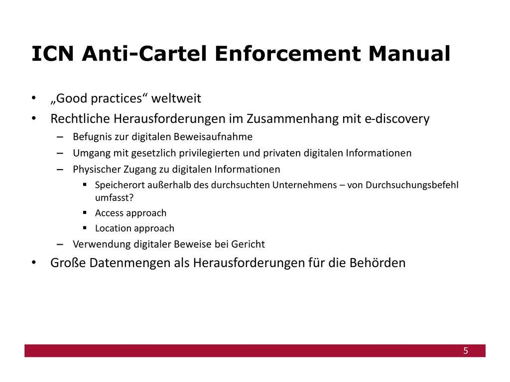 ICN Anti-Cartel Enforcement Manual