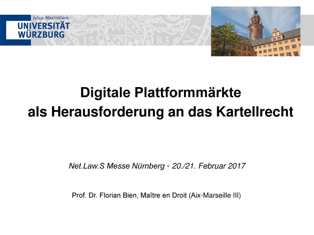 Digitale Plattformmärkte als Herausforderung an das Kartellrecht