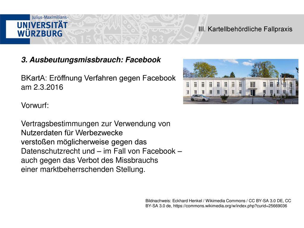 3. Ausbeutungsmissbrauch: Facebook