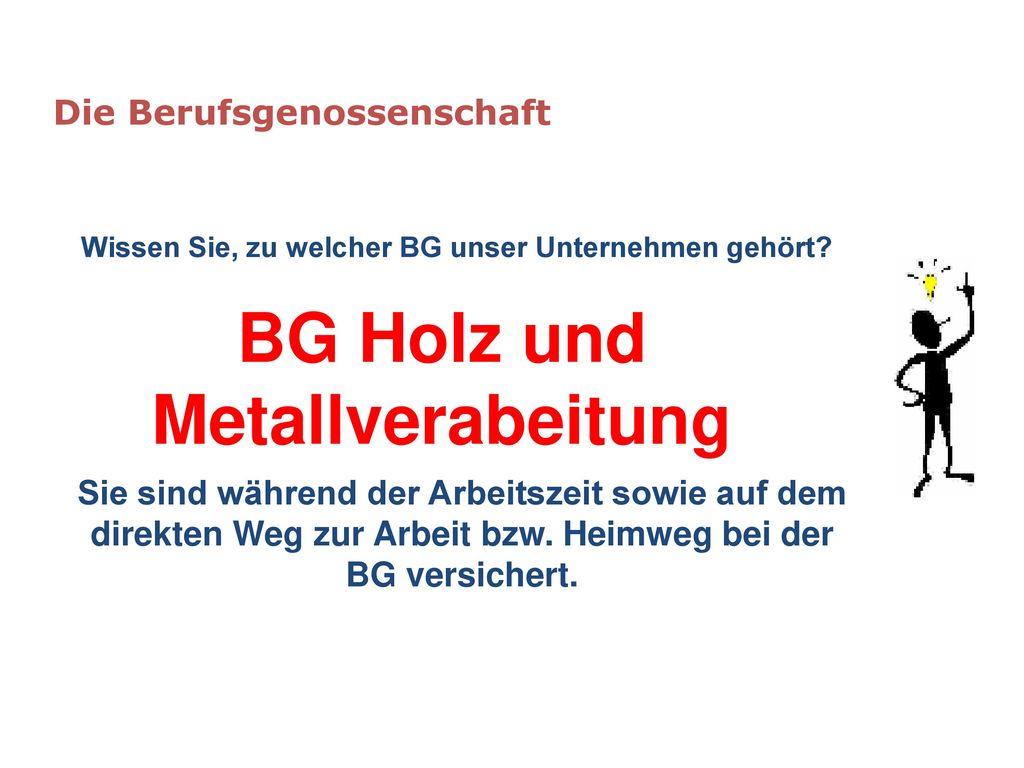 BG Holz und Metallverabeitung