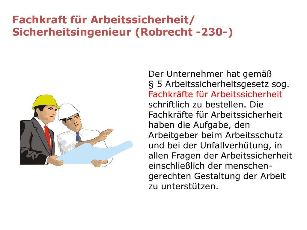Fachkraft für Arbeitssicherheit/ Sicherheitsingenieur (Robrecht -230-)