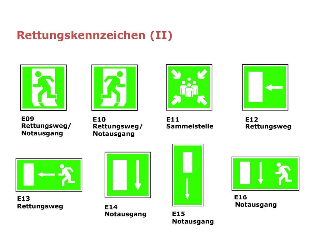 Rettungskennzeichen (II)