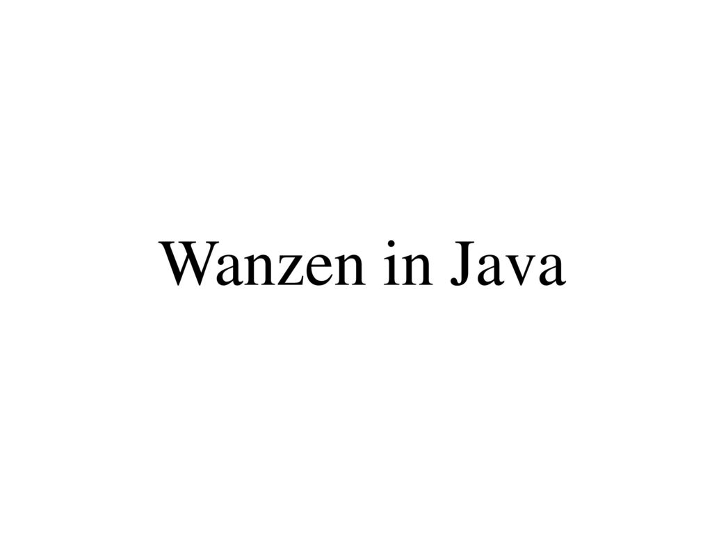 Wanzen in Java