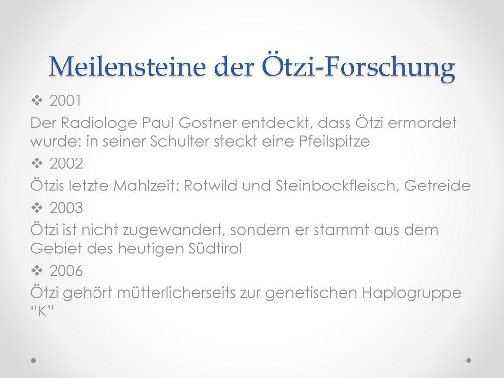 Meilensteine der Ötzi-Forschung