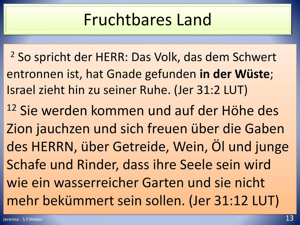 Fruchtbares Land