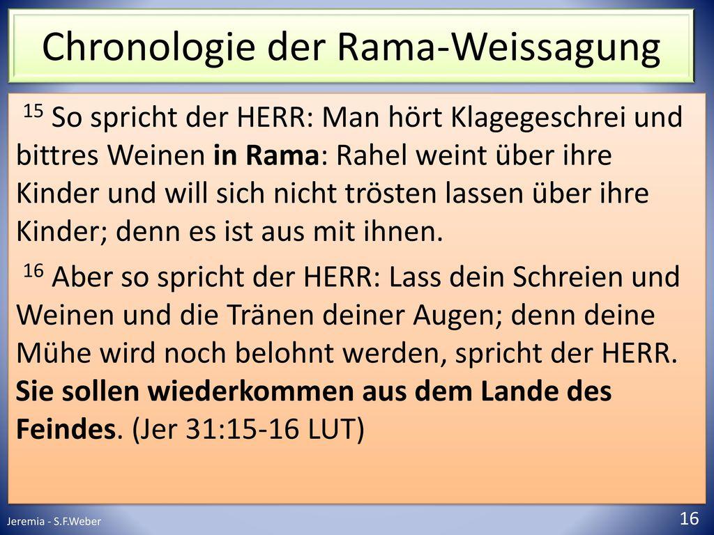 Chronologie der Rama-Weissagung