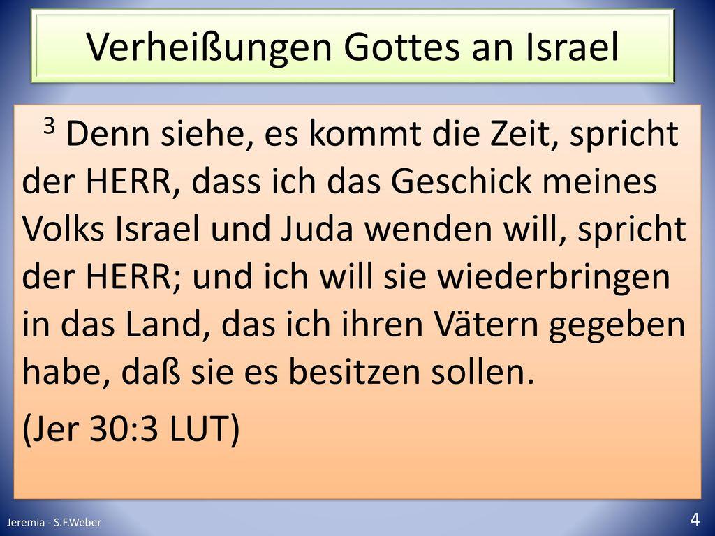 Verheißungen Gottes an Israel