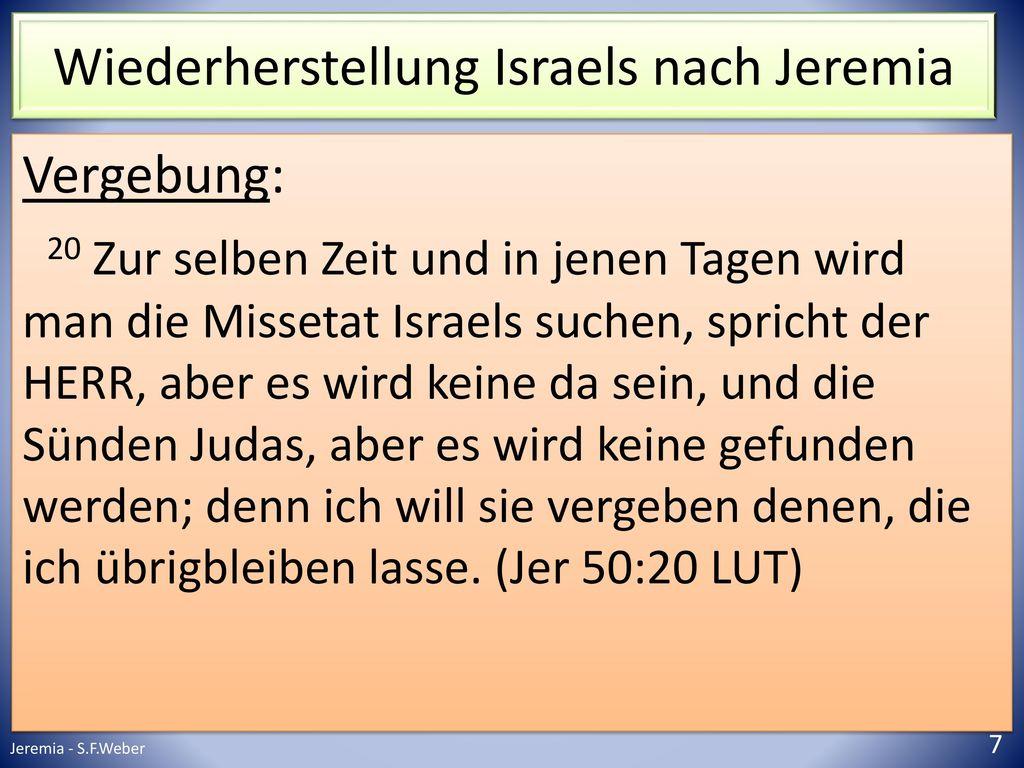 Wiederherstellung Israels nach Jeremia