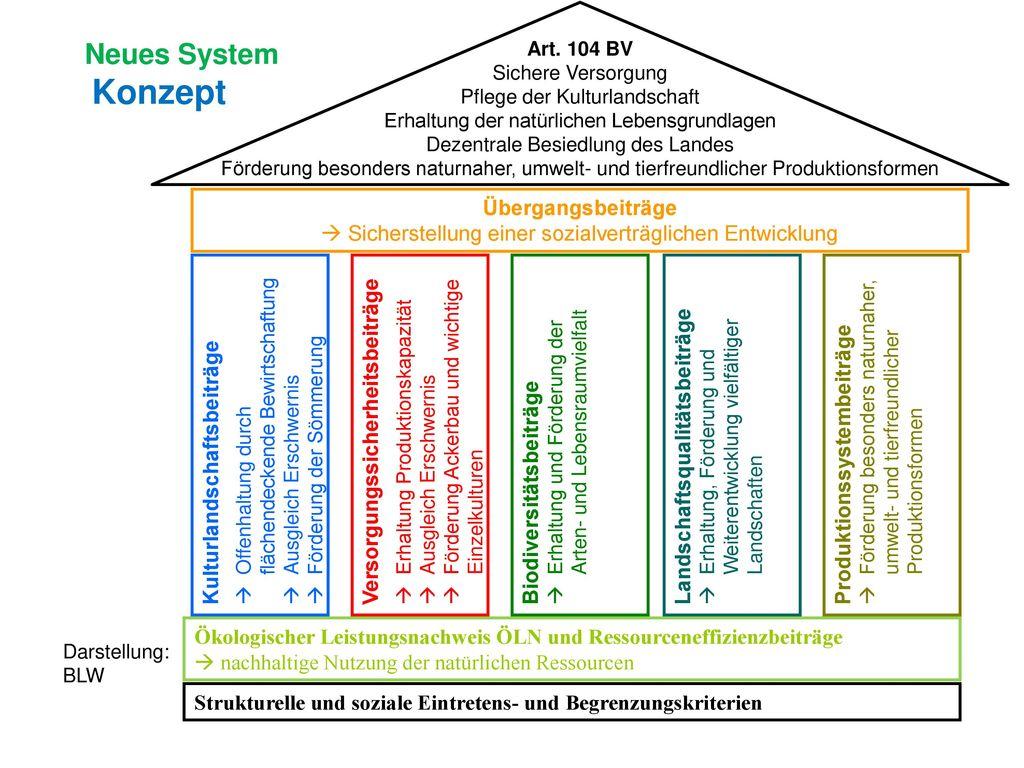 Neues System Konzept Übergangsbeiträge