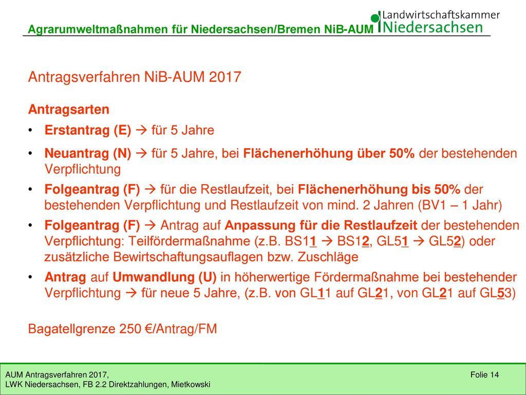 Antragsverfahren NiB-AUM 2017