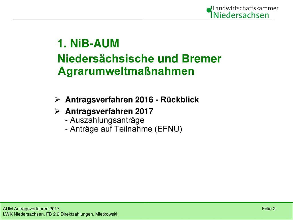 Niedersächsische und Bremer Agrarumweltmaßnahmen