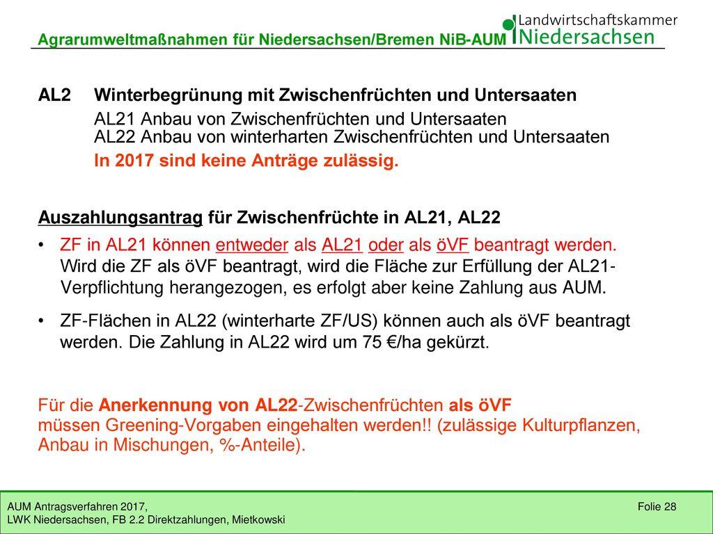 AL2 Winterbegrünung mit Zwischenfrüchten und Untersaaten