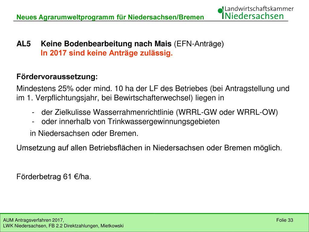 AL5 Keine Bodenbearbeitung nach Mais (EFN-Anträge)