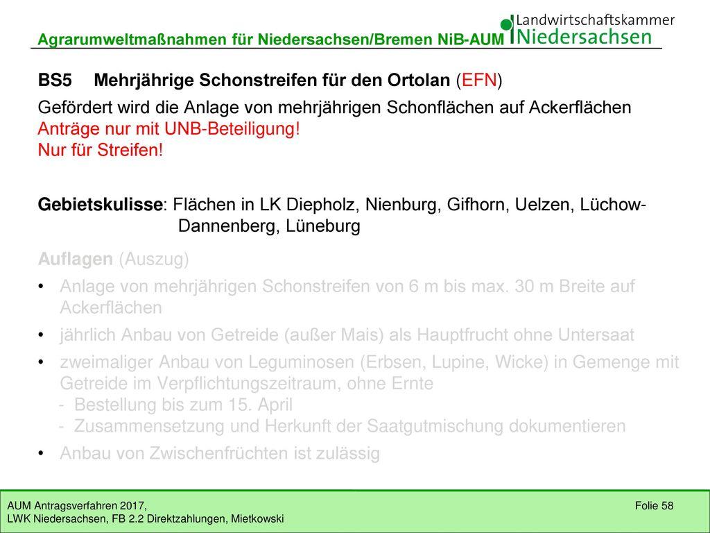 Agrarumweltmaßnahmen für Niedersachsen/Bremen NiB-AUM