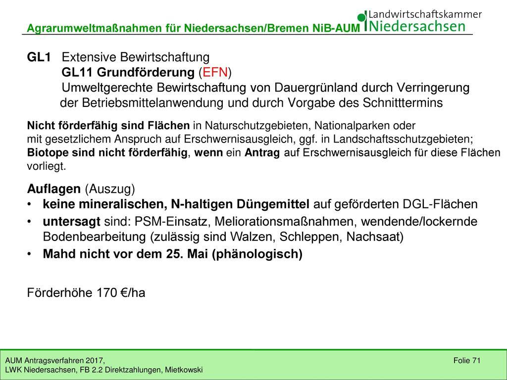 Teil IV Maßnahmen auf Dauergrünland (GL)