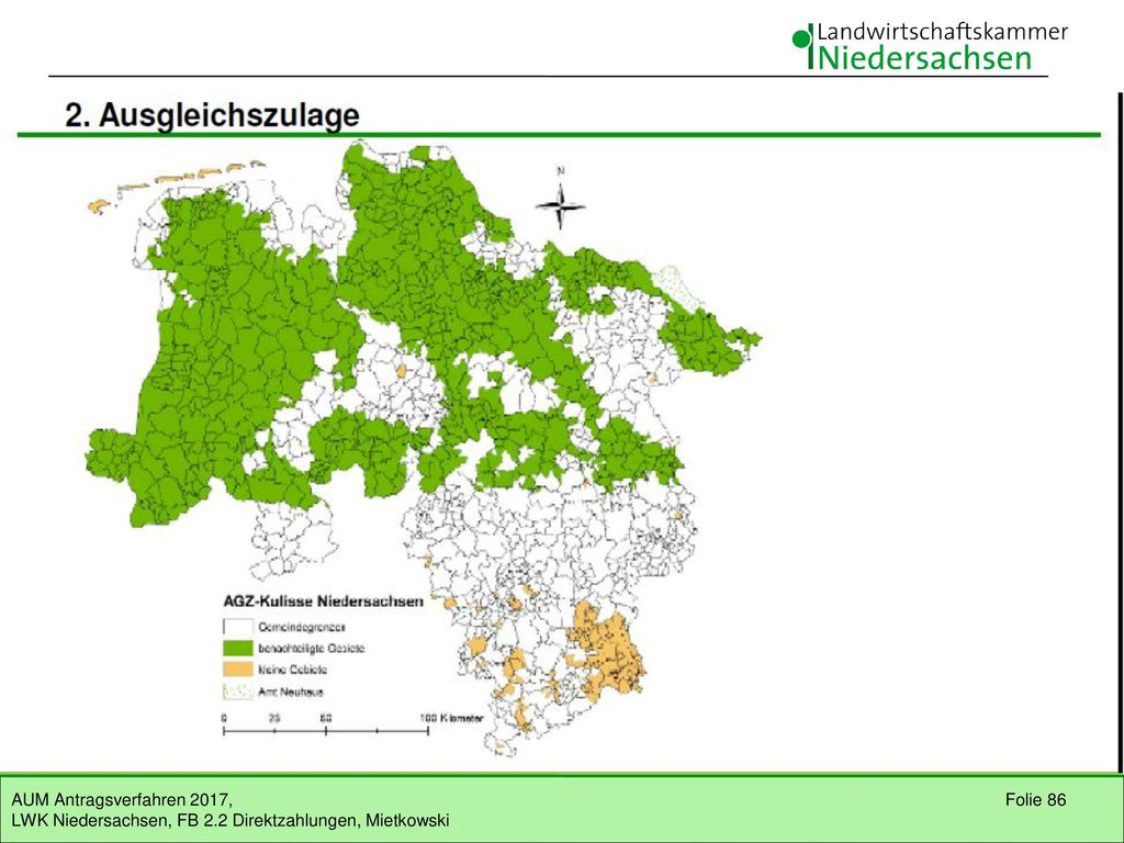 Ausgleichszulage • Richtlinie Ausgleichszulage AGZ vom 15.07.2015 für Niedersachsen und Bremen. Förderung von Betrieben mit Sitz in NI und HB.